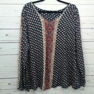 Lucky brand boho style top size 3X